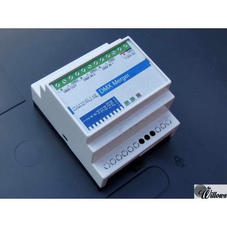 DMX Merger 2-1 Samenvoegen van 2 DMX signalen - DinRail