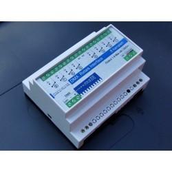 DMX Relais Interface 8 kanalen - High Inrush - DinRail