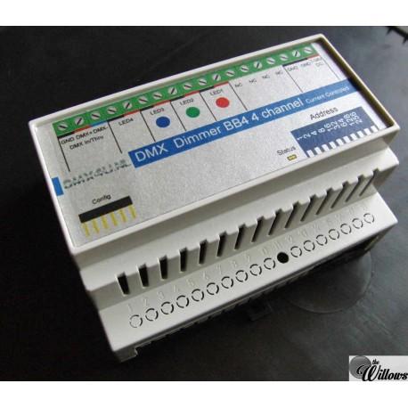 DMX LEDdimmer BB4, 4x 0-1400mA - DinRail