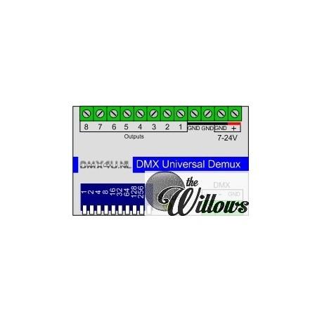 DMX Universele Demux 8 kanaals - DinRail