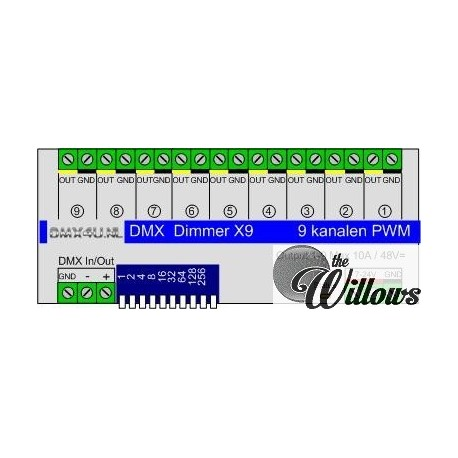 Led Dimmer 9x10 Ampere - DinRail