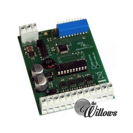 DMX Analoog Interface 0-10 Volt 8 kanalen